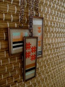 Cross-stitch Necklaces