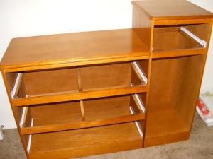 Dresser with Oak Finish