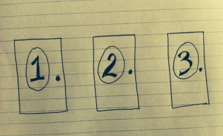 Door number 1, 2 or 3?
