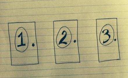 Door number 1, 2 or 3?